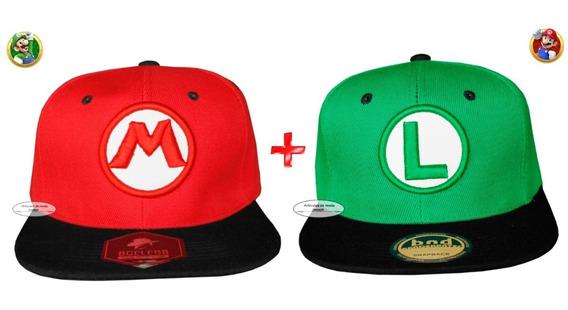 2promo Gorra Mario Bros + Luigi Gamers Nintendo Envio Gratis