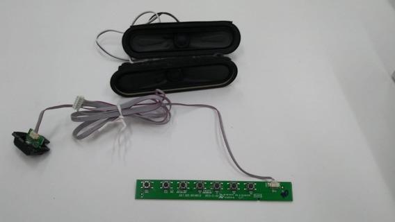 Placa Teclado+sensor +alto Falantes Tv Philco Ph28d27d Led