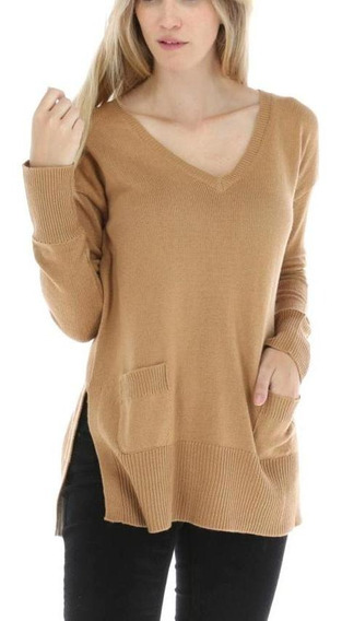 Sweaters Mujer Rockford Swt/pocket/ww19 Camel Heritage