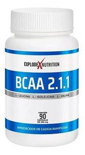 Massa Muscular Bcaa 2.1.1 Explode 90 Caps
