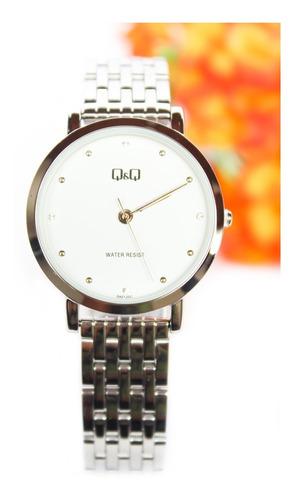 Reloj Q&q Qyq Original Mujer Acero + Envío Gratis