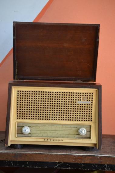 Radio Vitrola Antig Philips Funciona Ler Descrição Pe Palito