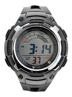 Reloj Caballero Crono Alarma Sumergible Deportivo - Od11-003