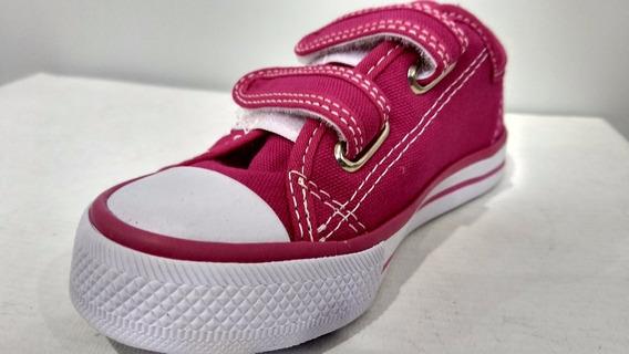 Tênis Infantil Babig Kids Lona Preto, Azul E Pink