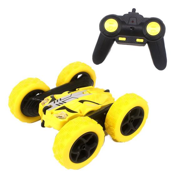 Carrinho Carro Controle Remoto Giro Radical 360graus Amarelo