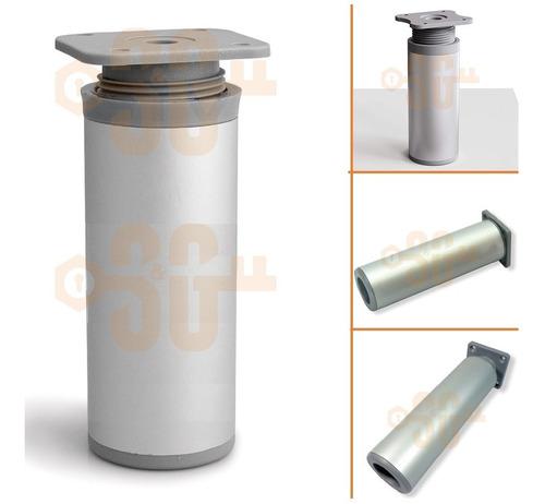 Pata De Aluminio 10 Cm Reforzada Sillón Muebles Bajo Mesada