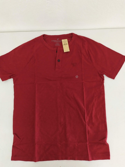 Playera American Eagle Roja Hombre Classic Fit Small