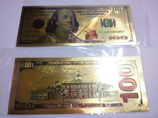 Billetes Bañado En Oro. Para Coleccion O Regalo
