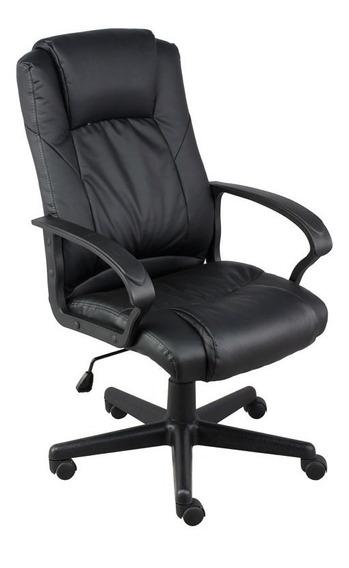 Cadeira Escritorio Airon Presidente Preta Relax Giratoria Pu