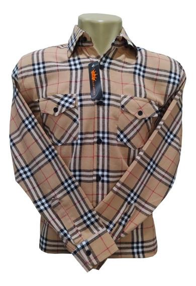 Camisa Flanela Tamanho Especial Xadrez Cowboy Plus Size