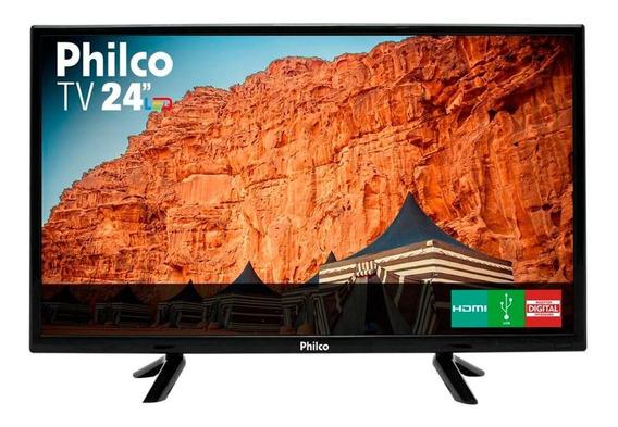 Tv Philco 24 Polegadas Led Hd Ptv24c10d Preta Bivolt