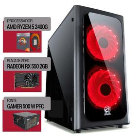 Pc Ryzen 5 2400g+ Am4 A320m + 1tb + Rx550 2gb + 4gb Ddr4