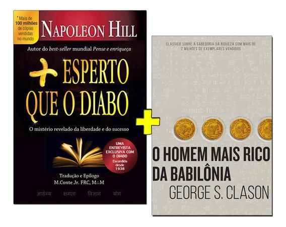Kit O Homem Mais Rico Da Babilônia+ Mais Esperto Que O Diabo