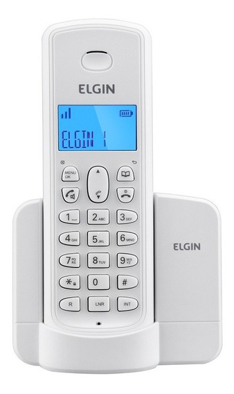 Telefone Sem Fio Elgin Tsf8001-identificador De Chamada-bco