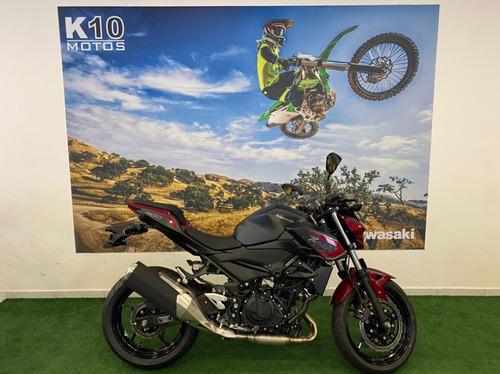 Imagem 1 de 10 de Kawasaki Z400 Vermelha 2021 - Preção