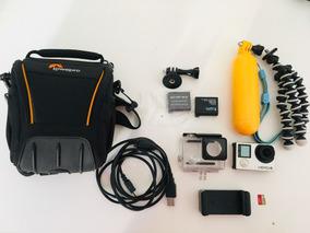 Camera Go Pro Hero 4 Black + Cartão 64gb + 10 Acessórios