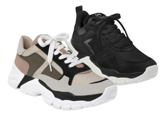 Tênis Via Marte Chunky Sneaker Casual Feminino Promoção