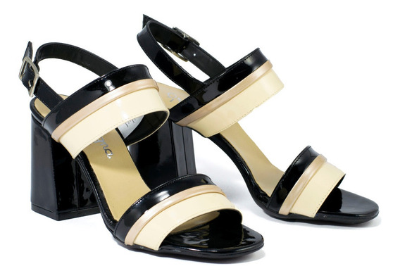 Zapatos Mujer Gravagna Sandalias Fiesta Vestir Cuero Charol