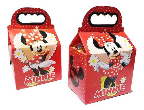 Imagen 1 de 1 de 50 Cajas Dulcero Minnie Mouse Roja Fiesta Bolo *