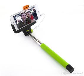 Bastao De Mao Self Monopod Bluetooth Embutido X5 Verde