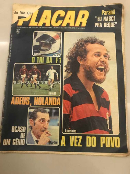 Revista Placar 184 Post- Coritiba Tri Campeão Pr Jornal 1973