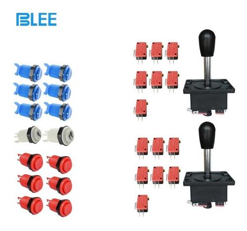 Kit De 14 Botones Blee Y 2 Palancas Arcade