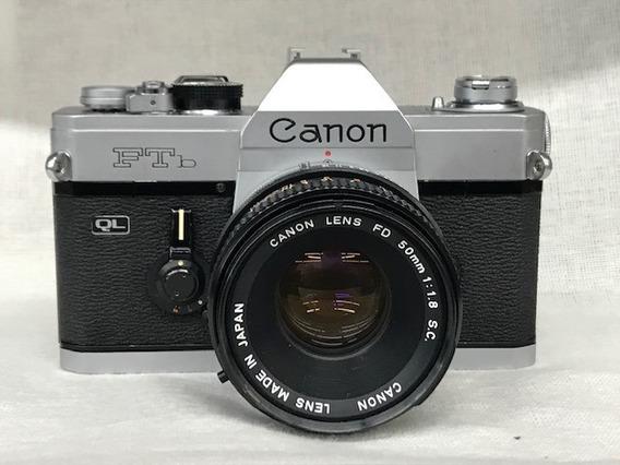 Câmera Canon Ftb C/50mm 1:1.8 (analógica)conservada.