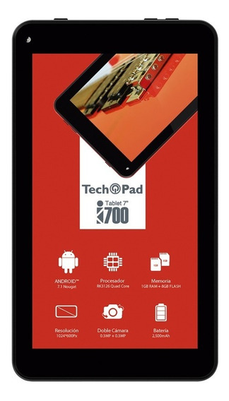 Tablet Tech Pad I700 7 1gb Ram 8gb Android 7.1 Multi Touch