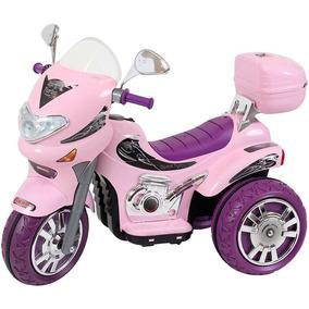 Mini Moto Eletrica Infantil Triciclo 12v Rosa Biemme