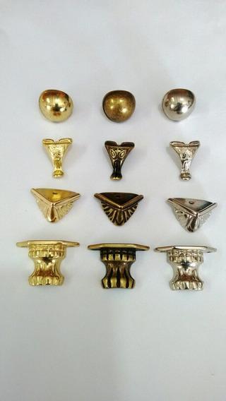 96 Pezinhos Metal4 Modelos P/artesanato Caixas Mdf