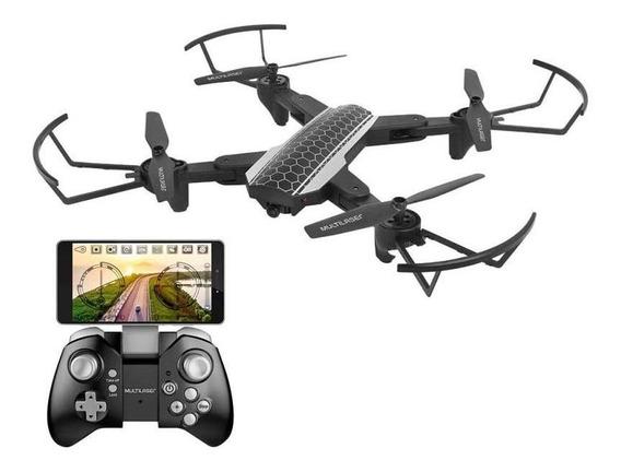 Drone Shark Multilaser Es177 - Câmera Hd 80 Metros Wi-fi