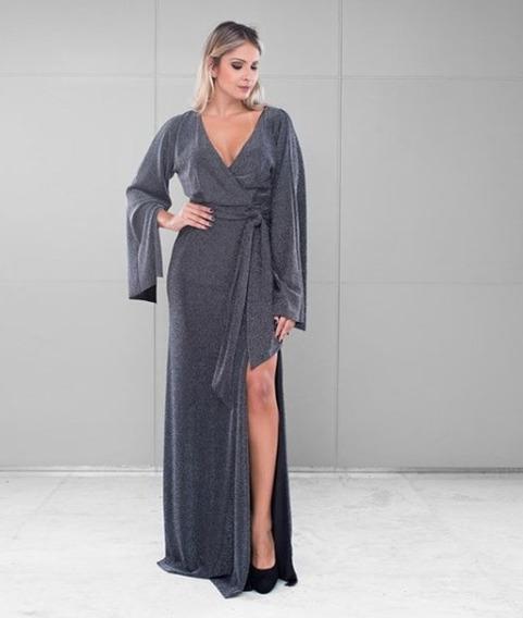 Vestido Feminino Primeira Etapa Preto Prata Lurex Original