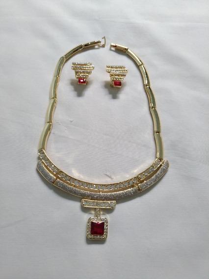 Conjunto Colar E Brinco (bijuteria Fina) N.3