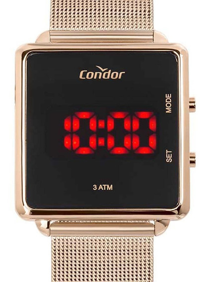 Relógio Condor Feminino Digital Led Cojhs31bab/4j Rose C/ Nf
