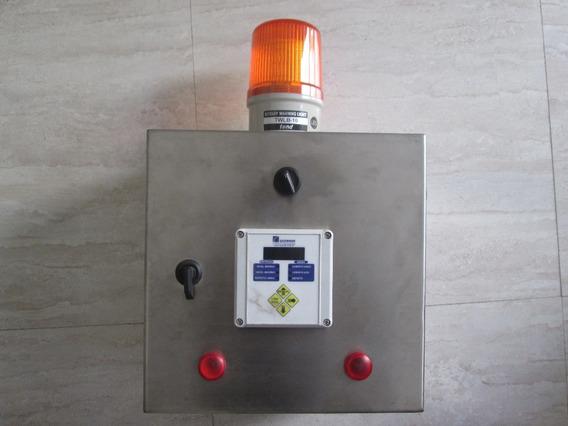 Quadro De Comando Inox + Circuito Elétrico + Sinalizador