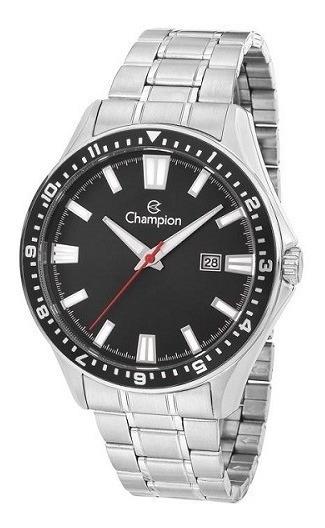 Relógio Champion Masculino De Aço Prata Ca31613t Original