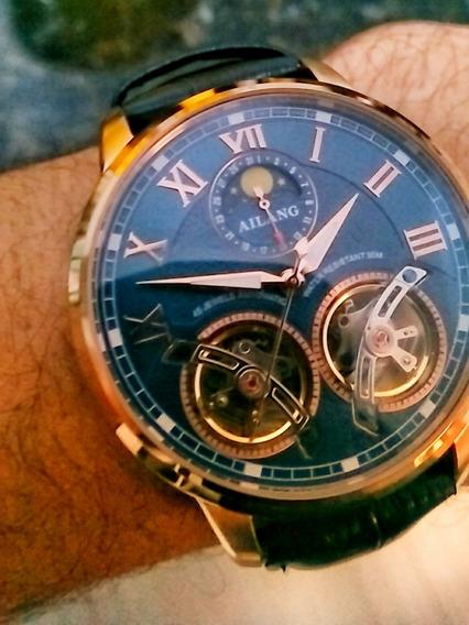 Relógio Automático Vidro Safira