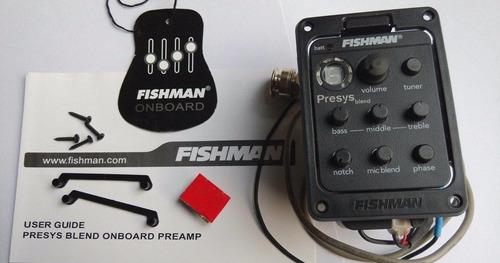 Preamplificador Fishman P. Blend 301 Mic P/acustica/criolla.