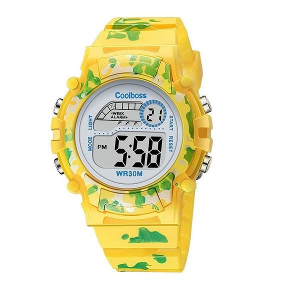 Relógio Infantil Esportivo Marca Coolboss Luz Led Coloridos