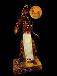 Escultura Sacerdote Coyote Prehispánico