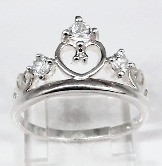 Anel Coroa De Princesa Em Prata 925