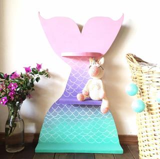 Estante Repisa Infantil Sirena Decoración Dormitorio