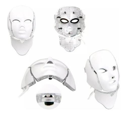 Mascara Led Tratamiento Facial 7 Colores Cara Cuello Mli