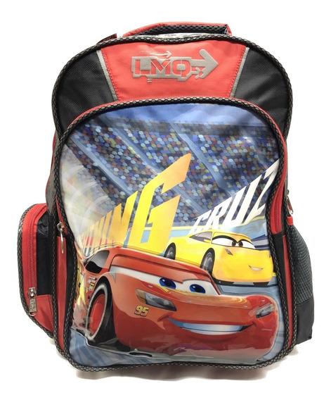 Mochila Escolar Primaria Disney Cars Rayo Ruz Niño Full