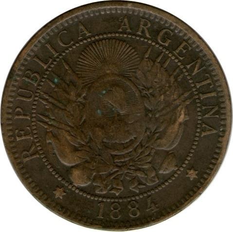Spg Argentina 2 Centavos 1884
