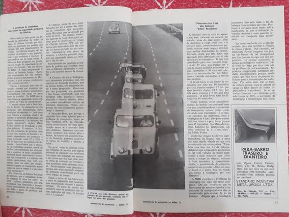 Revista Automóveis E Acessórios Dodg Mbb Fnm Adamo Corcel 72