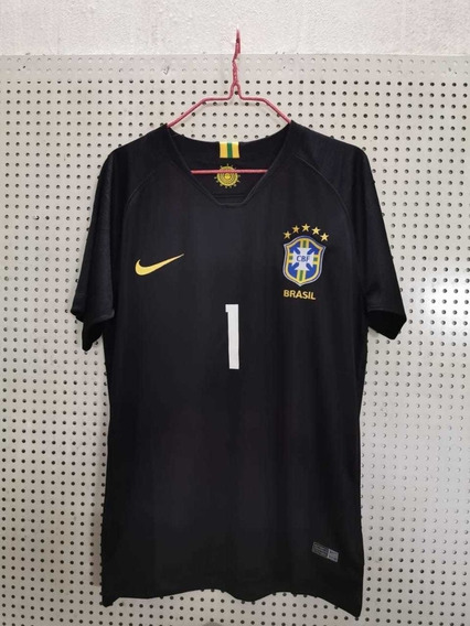 Camisa Goleiro Seleção Brasileira 2018 Oficial + Frete Gráti