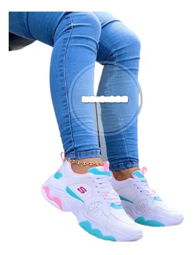 Zapatillas Calzado Tenis Deportivo Sketcher Para Dama Mujer