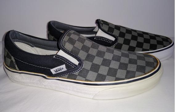 Vans Slip On Classic Con Detalle 38 Zapatillas Pancha Cuadro