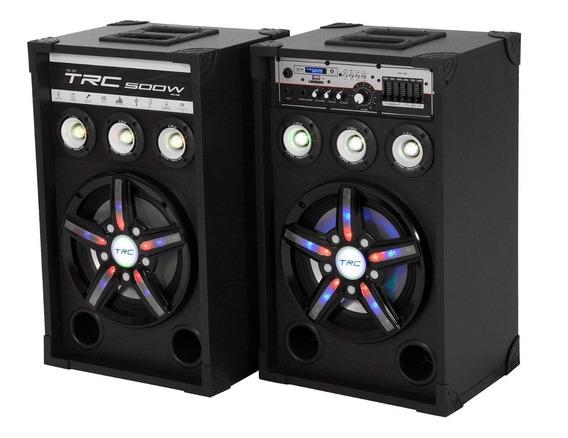 Caixa De Som Bluetooth Trc 397 Amplificada 500w - Com Microf
